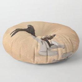 Science Crow Floor Pillow