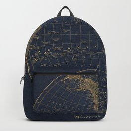 Vintage Golden Map  Backpack