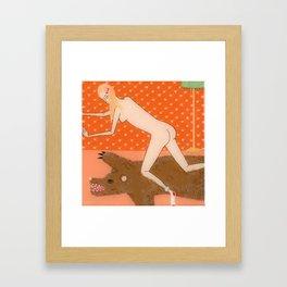Nude Bear Framed Art Print