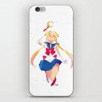 sailor moon iPhone & iPod Skins featuring Sailor Moon by Ellen Su