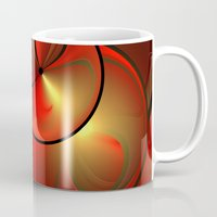 the shining Mugs featuring Shining Fractal by gabiw Art