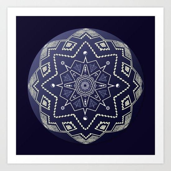 Wedgewood Sphere Mandala Art Print