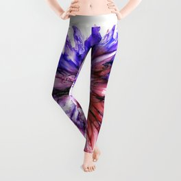 Painted Star Flower Abstract Leggings