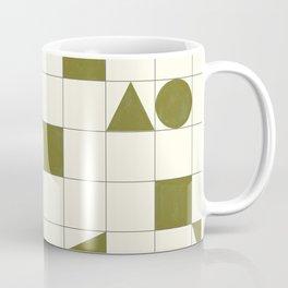 geo shapes-olive Coffee Mug