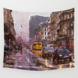 Rainy Day Traffic Wall Tapestry