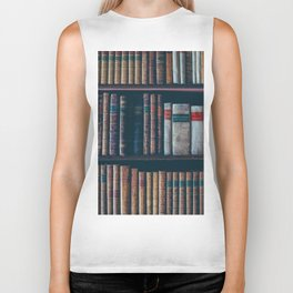 The Vintage Bookshelf (Color) Biker Tank
