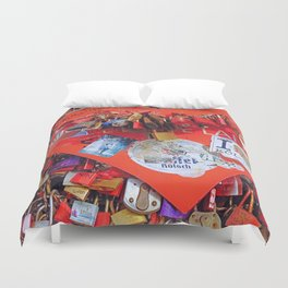 Locked in Love Duvet Cover
