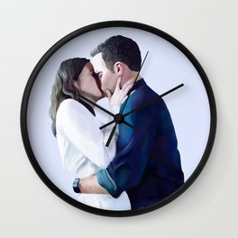 FitzSimmons Kiss Wall Clock