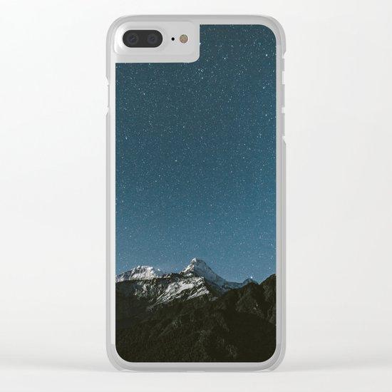 Annapurna Himalayas Clear iPhone Case