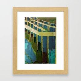 Confined Blue Framed Art Print