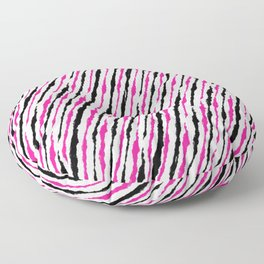 Pink and Black Pattern Floor Pillow