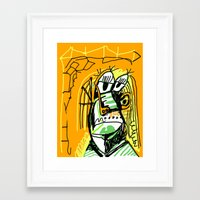 architect Framed Art Prints featuring Architect by Matt Vaillette