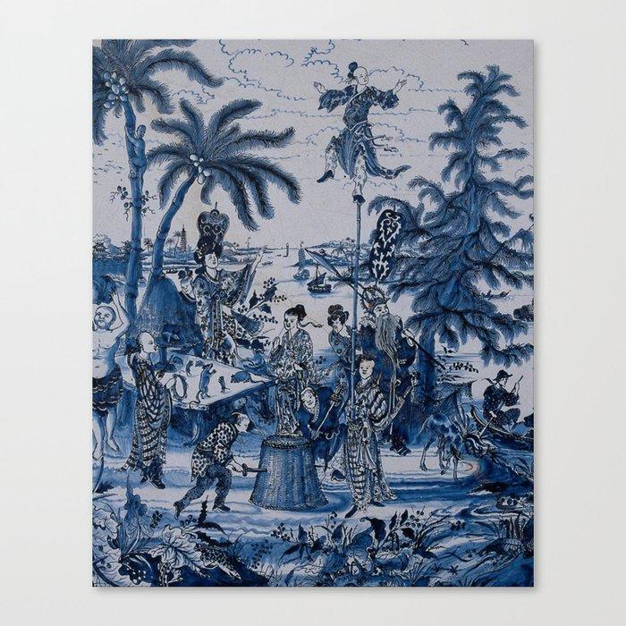17th Century Delftware Chinoiserie Leinwanddruck