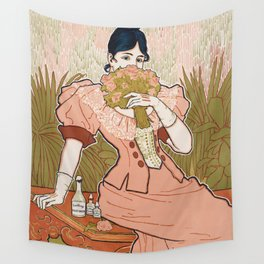 Victorian Era Perfume Ad Wall Tapestry