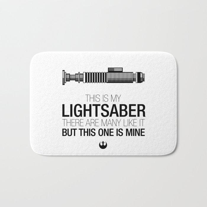 This is my Lightsaber (Luke Version) Bath Mat