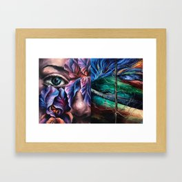 Painting Collage Framed Art Print