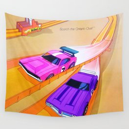 1971 Hot Wheels Ontario Olds 442 and Mighty Maverick Redline Trio Track Set Poster Wall Tapestry