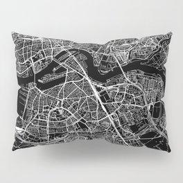 Rotterdam Black Map Pillow Sham