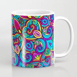 Saratoga Rainbow Swirls Absract Mandala Coffee Mug