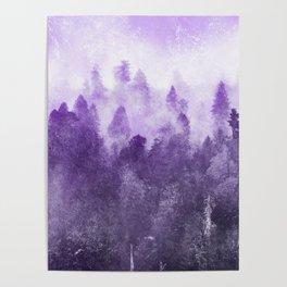 Ultra Violet Adventure Forest Poster