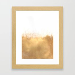 Brushed Gold Framed Art Print
