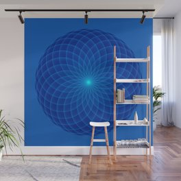 Blue and round Graphic Wall Mural