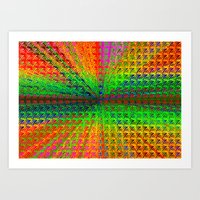 psychedelic Art Prints featuring Psychedelic by Debbie Clayton