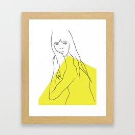 Yellow Portrait 1 Framed Art Print