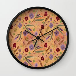 Coral Garden Meadow Wall Clock