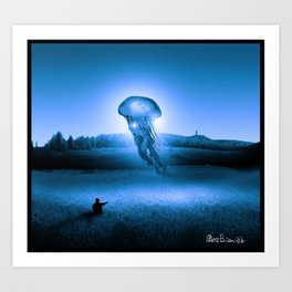 Ghostly encounter Art Print