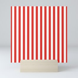 Red Summer Stripes Mini Art Print