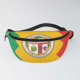 American cities-  Flag of  los angeles Fanny Pack