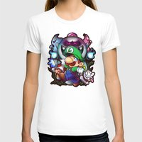 haunted mansion T-shirts featuring Luigi's Mansion Badge by Tiffa Cakes