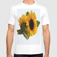 Sunflower White MEDIUM Mens Fitted Tee