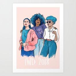 International Women's Day 2018 illustration Art Print