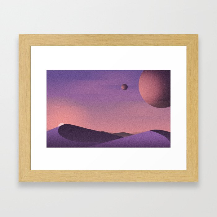 Unknown Planet Framed Art Print
