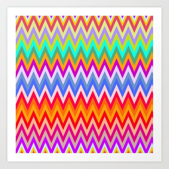Chevron Mix #5 Art Print
