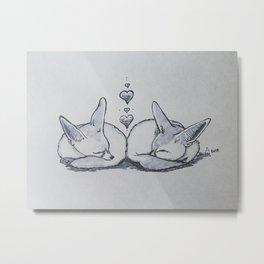 Fox Nap Metal Print