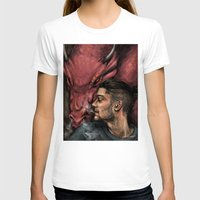 cyrilliart T-shirts featuring Dragon Series: Zayn by Cyrilliart