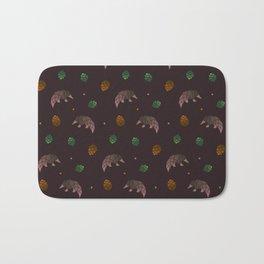Pangolins, Pinecones, and Artichokes Bath Mat