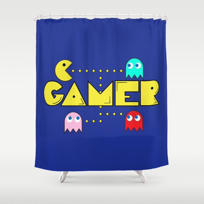 Classic Gamer Pacman Shower Curtain
