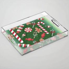Christmas Candy Cheer Acrylic Tray