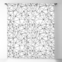 Mosaic Triangles Repeat Seamless Pattern Black and White Blackout Curtain