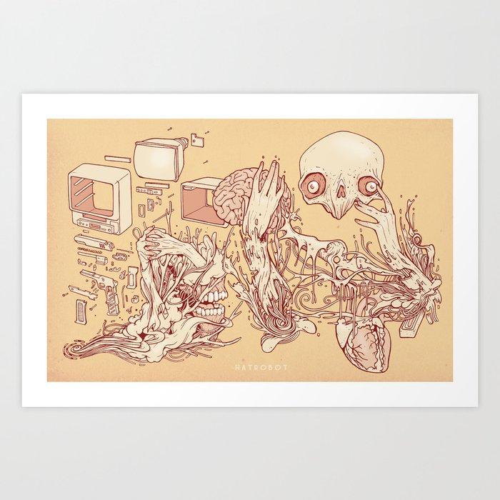 Deconstructed Art Print