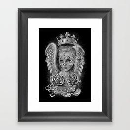 Art Design Queen of angels (Reina de los ángeles) (black) Framed Art Print
