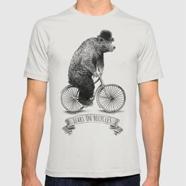 Bears on Bicycles (Lime) T-shirt