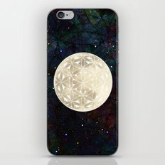 The Flower of Life Moon 2 iPhone Skin