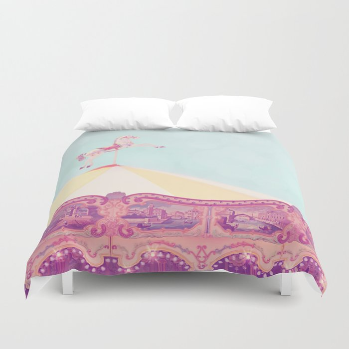 Carousel Dream Mint Duvet Cover