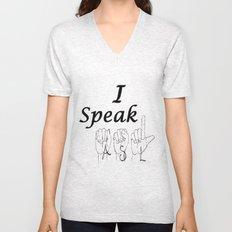 I Speak ASL Unisex V-Neck
