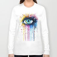 "shipping Long Sleeve T-shirts featuring ""Rainbow Eye"" by PeeGeeArts"